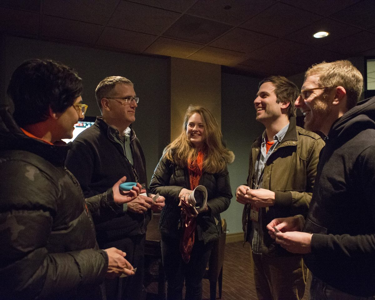 Group of film programmers at the 2018 Wisconsin Film Festival afterglow event