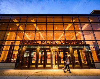 Hamel Music Center at dusk